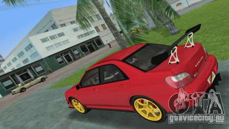 Subaru Impreza WRX 2002 Type 4 для GTA Vice City вид справа