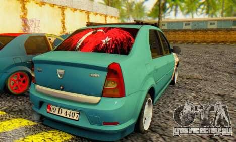 Dacia Logan 1.6 MPI Tuning для GTA San Andreas вид сзади слева