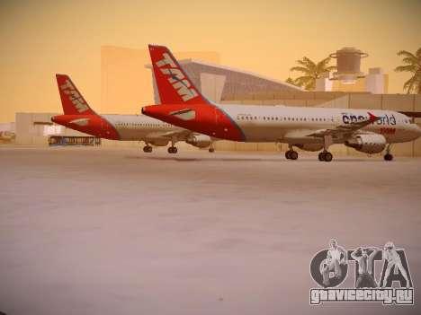 Airbus A320-214 TAM Oneworld для GTA San Andreas вид справа