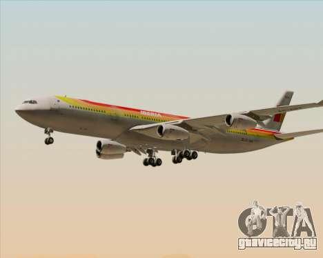 Airbus A340 -313 Iberia для GTA San Andreas вид снизу