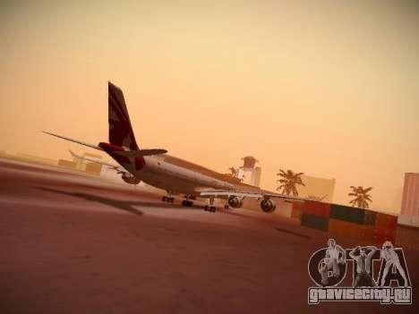 Airbus A340-600 Qatar Airways для GTA San Andreas вид сзади слева