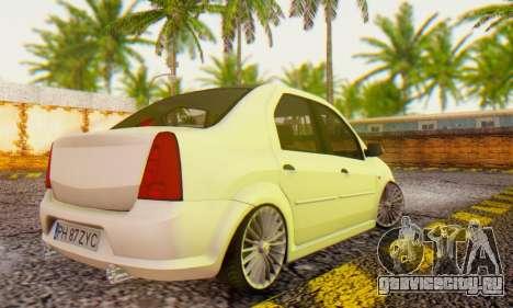 Dacia Logan ZYCU для GTA San Andreas вид слева