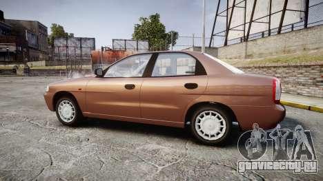 Daewoo Nubira I Sedan S PL 1997 для GTA 4 вид слева