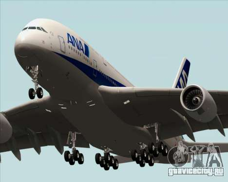Airbus A380-800 All Nippon Airways (ANA) для GTA San Andreas вид сзади слева