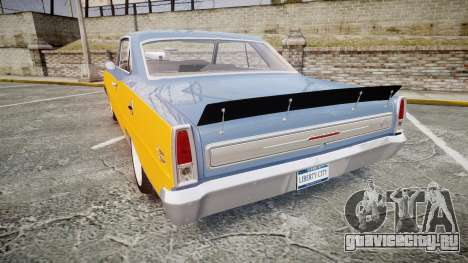 Chevrolet II Nova SS 1966 Custom [EPM] PJ1 для GTA 4 вид сзади слева