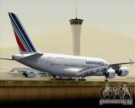 Airbus A380-861 Air France для GTA San Andreas вид сзади