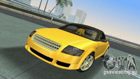 Audi TT Coupe BiMotor Black Revel для GTA Vice City вид слева