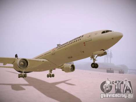 Airbus A330-300 Brussels Airlines для GTA San Andreas вид сверху