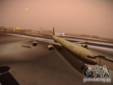 Airbus A340-600 Etihad Airways для GTA San Andreas вид слева