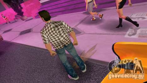 Kockas polo - barna T-Shirt для GTA Vice City третий скриншот