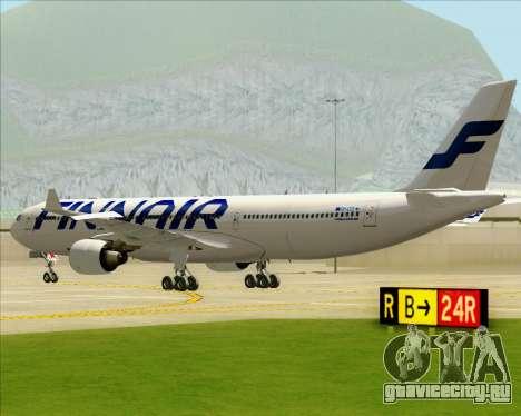 Airbus A330-300 Finnair (Current Livery) для GTA San Andreas вид сзади