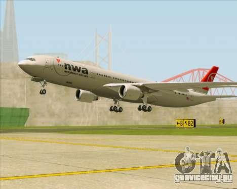 Airbus A330-300 Northwest Airlines для GTA San Andreas колёса