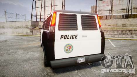 Declasse Burrito Police для GTA 4 вид сзади слева