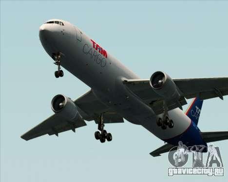 Boeing 767-300ER F TAM Cargo для GTA San Andreas вид сзади слева