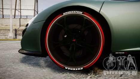 McLaren 650S Spider 2014 [EPM] Bridgestone v2 для GTA 4 вид сзади
