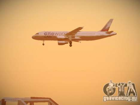 Airbus A320-214 LAN Oneworld для GTA San Andreas двигатель