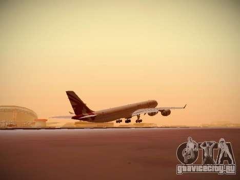 Airbus A340-600 Qatar Airways для GTA San Andreas вид сбоку