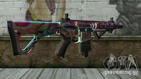Graffiti Assault rifle v2 для GTA San Andreas второй скриншот