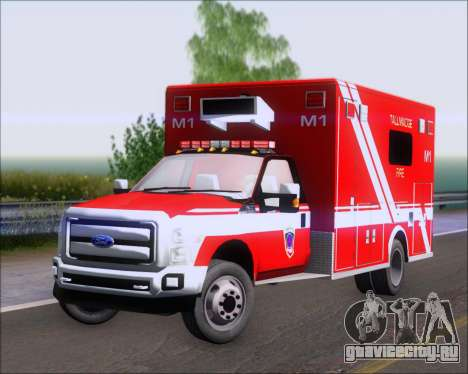 Ford F-350 Super Duty TFD Medic 1 для GTA San Andreas вид слева