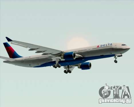 Airbus A330-300 Delta Airlines для GTA San Andreas вид сзади
