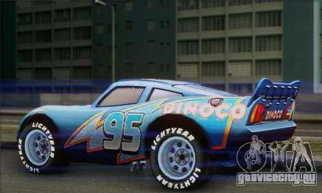 Lightning McQueen Dinoco для GTA San Andreas вид слева