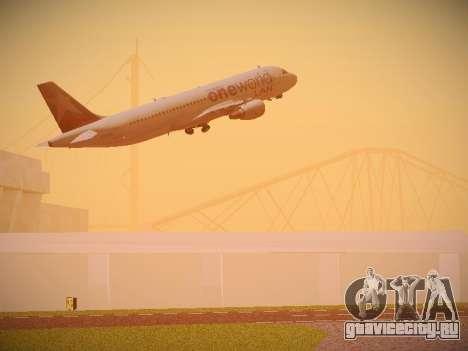 Airbus A320-214 LAN Oneworld для GTA San Andreas салон