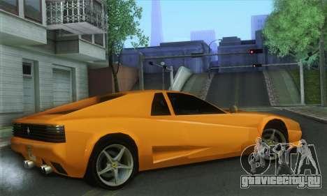 Cheetah Testarossa для GTA San Andreas вид слева