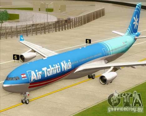 Airbus A340-313 Air Tahiti Nui для GTA San Andreas вид сзади