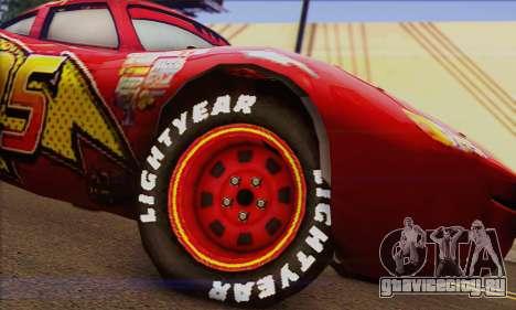 Lightning McQueen для GTA San Andreas вид сзади слева