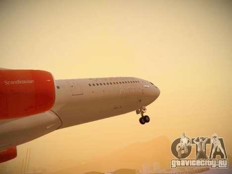 Airbus A340-300 Scandinavian Airlines для GTA San Andreas салон