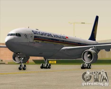 Airbus A330-300 Singapore Airlines для GTA San Andreas вид снизу