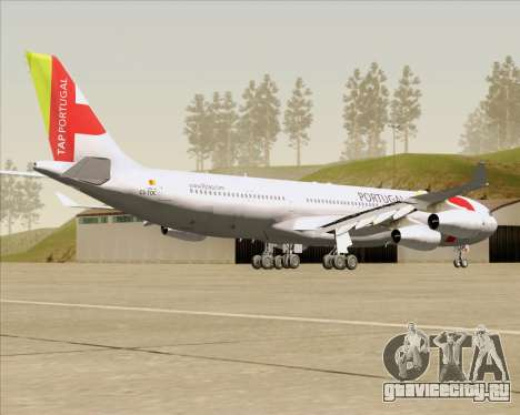 Airbus A340-312 TAP Portugal для GTA San Andreas вид справа
