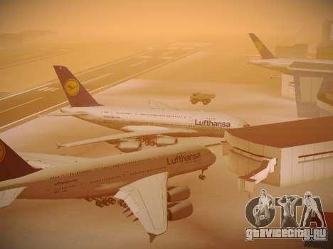 Airbus A380-800 Lufthansa для GTA San Andreas вид снизу
