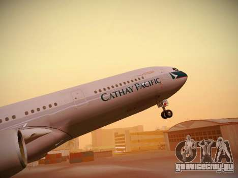 Airbus A340-300 Cathay Pacific для GTA San Andreas колёса