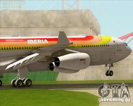 Airbus A340 -313 Iberia для GTA San Andreas двигатель