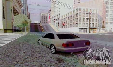 Audi A8 для GTA San Andreas вид сзади