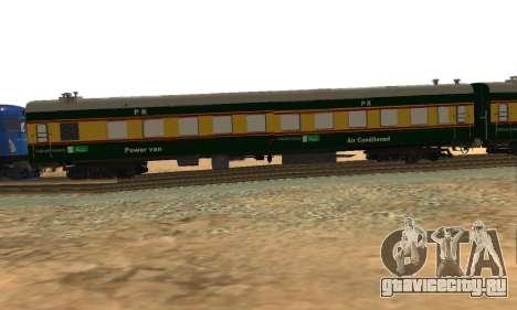 Pakistan Railways Train для GTA San Andreas вид сзади слева