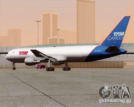 Boeing 767-300ER F TAM Cargo для GTA San Andreas вид изнутри