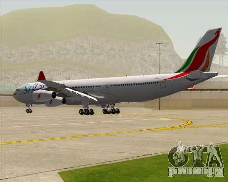 Airbus A340-313 SriLankan Airlines для GTA San Andreas вид справа