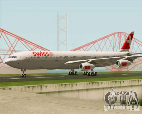Airbus A340-313 Swiss International Airlines для GTA San Andreas вид изнутри