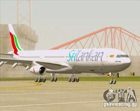 Airbus A340-313 SriLankan Airlines для GTA San Andreas вид сзади слева