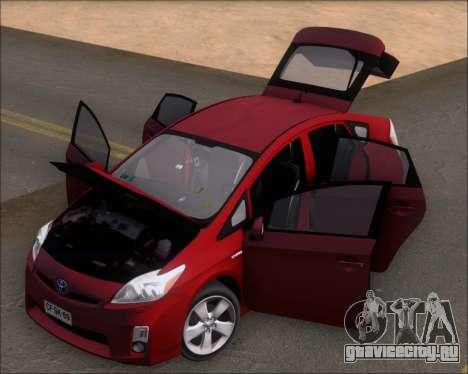 Toyota Prius для GTA San Andreas вид сзади