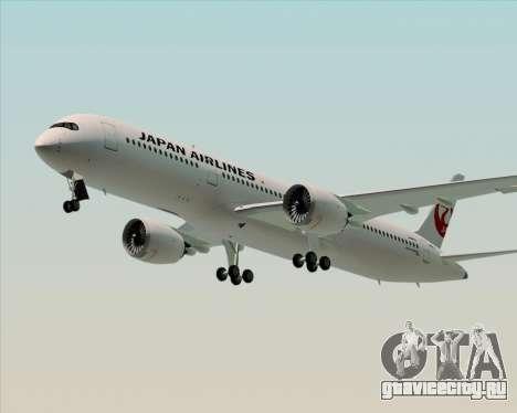 Airbus A350-941 Japan Airlines для GTA San Andreas вид сбоку