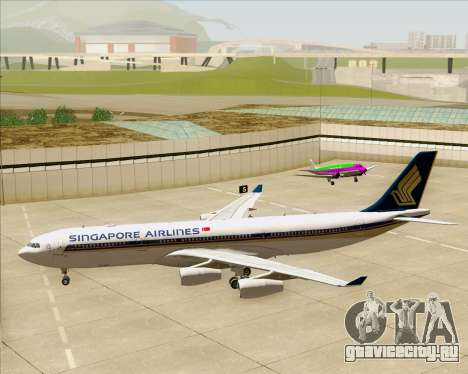 Airbus A340-313 Singapore Airlines для GTA San Andreas вид снизу