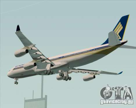 Airbus A340-313 Singapore Airlines для GTA San Andreas