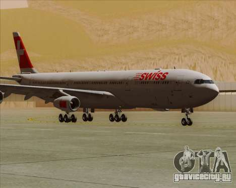 Airbus A340-313 Swiss International Airlines для GTA San Andreas вид слева