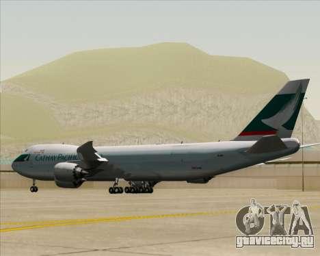 Boeing 747-8 Cargo Cathay Pacific Cargo для GTA San Andreas вид справа