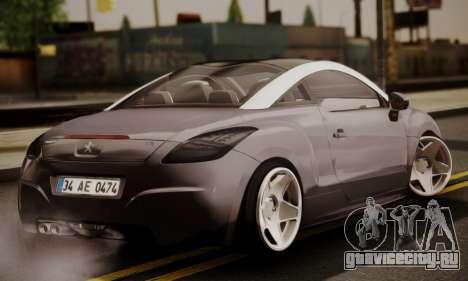Peugeot RCZ для GTA San Andreas вид слева