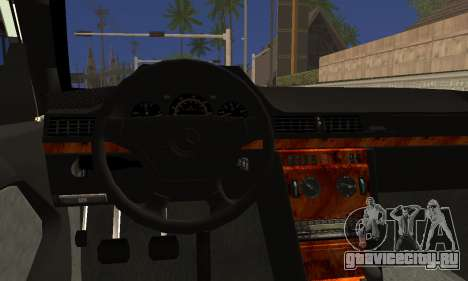 Mercedes-Benz C124 для GTA San Andreas вид сзади слева