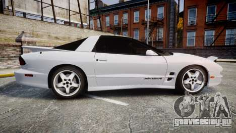 Pontiac Firebird Trans Am 2002 для GTA 4 вид слева